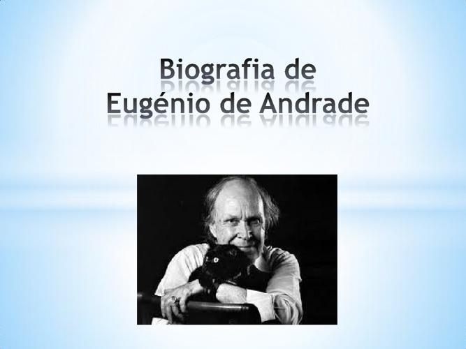 Biografia de Eugénio de Andrade