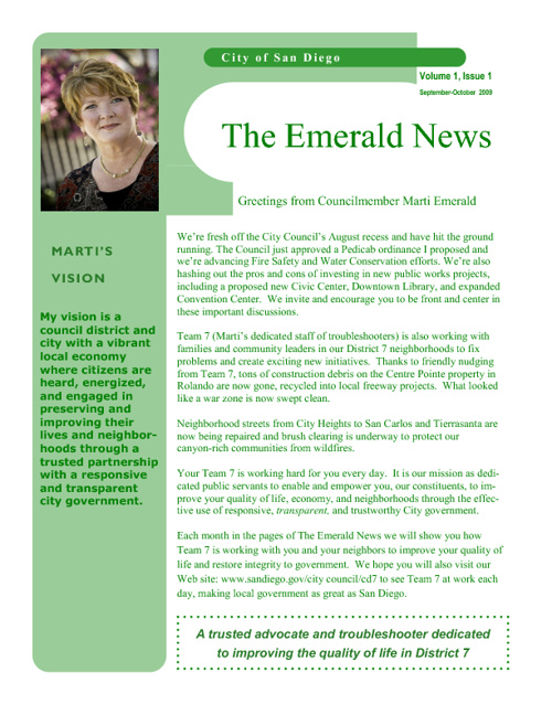 The Emerald News (Archive: 2009-2011)