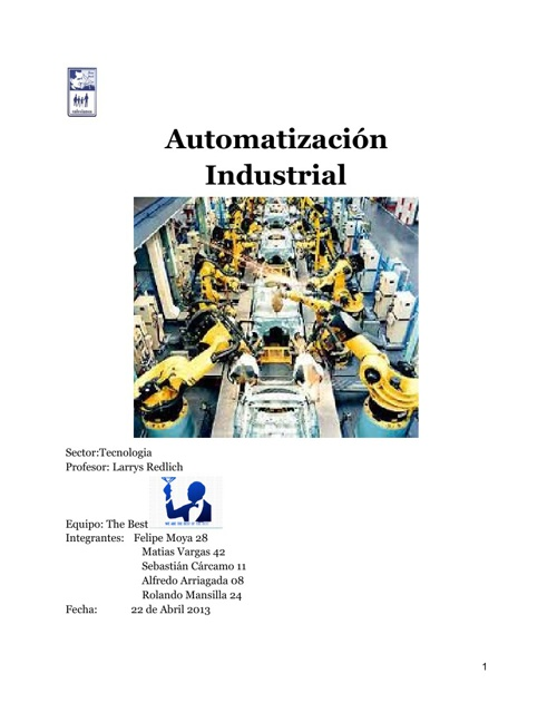 2013 8D The Best 28 Informe Investigación Automatización
