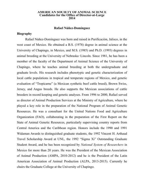 Nunez_Director nomination_2014_ASAS