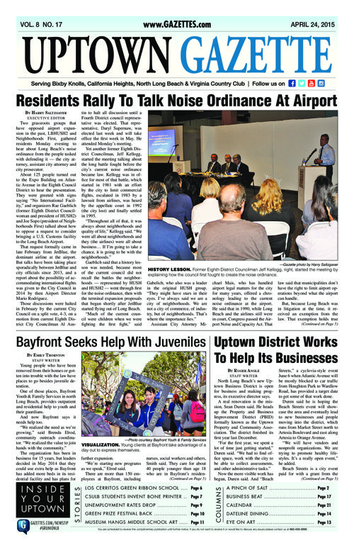 Uptown Gazette  |  April 24, 2015
