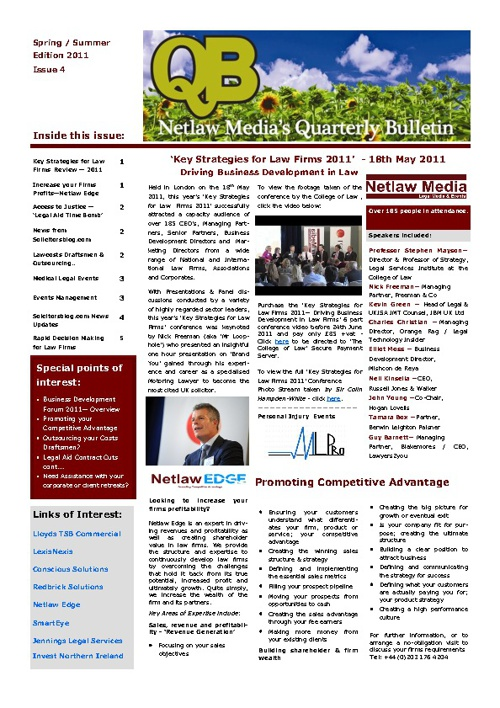 Netlaw Media 'QB' Spring 2011Edition