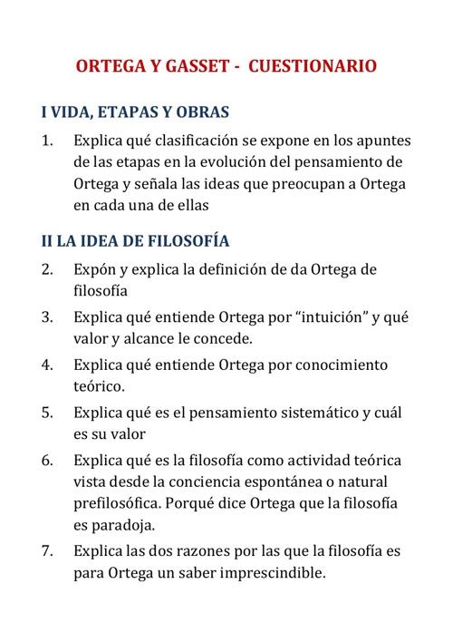 Ortega Cuestionario Apuntes