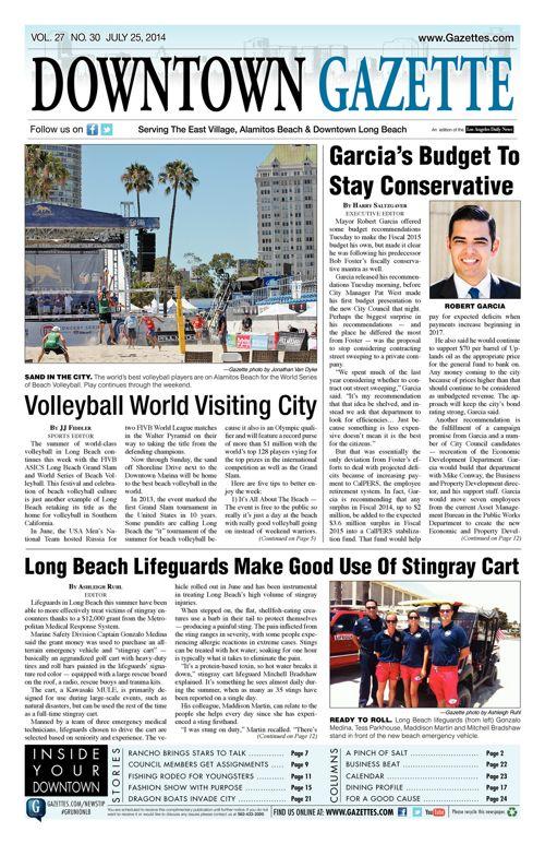Downtown Gazette  |  July 25, 2014