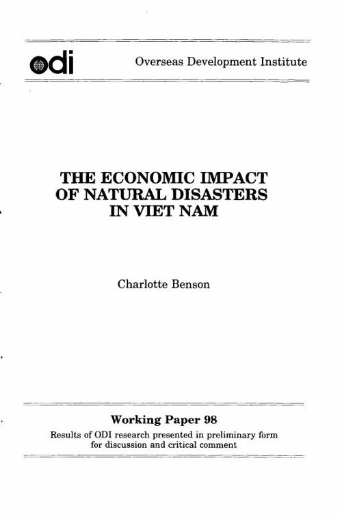 Economic Impact of Natural Hazards in Vietnam