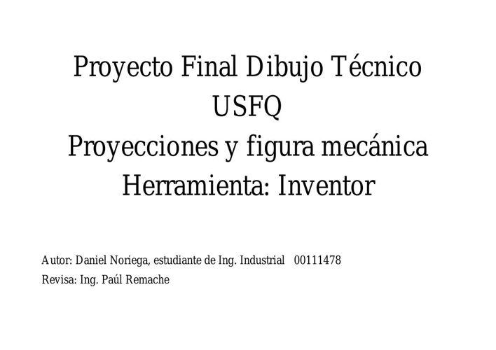 Proyecto Final Dibujo Técnico