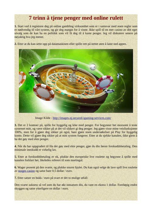 7 trinn å tjene penger med online rulett