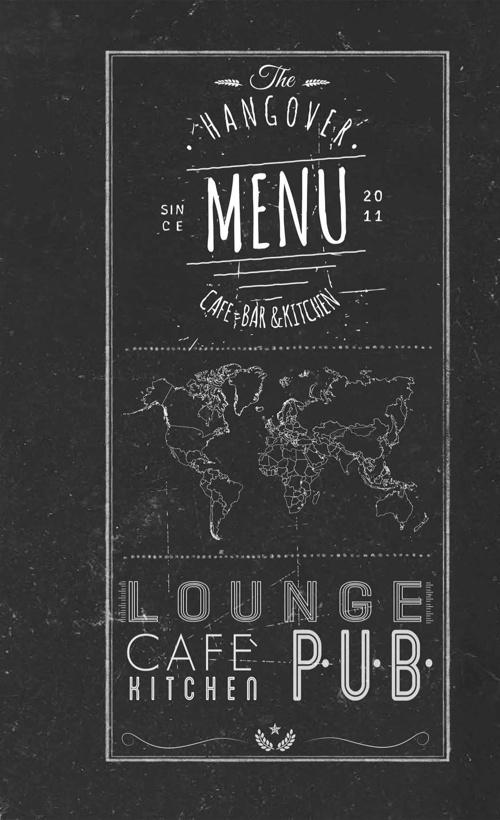 Hangover Cafe & Bar Menü