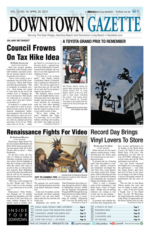 Downtown Gazette  |  April 20, 2012
