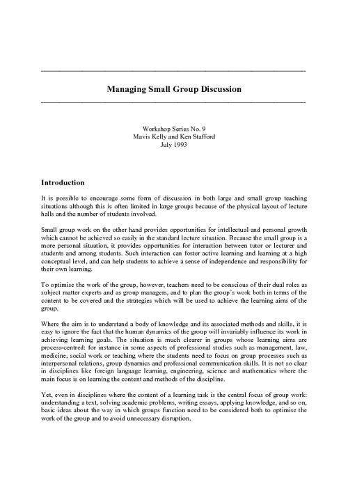 managing discussion