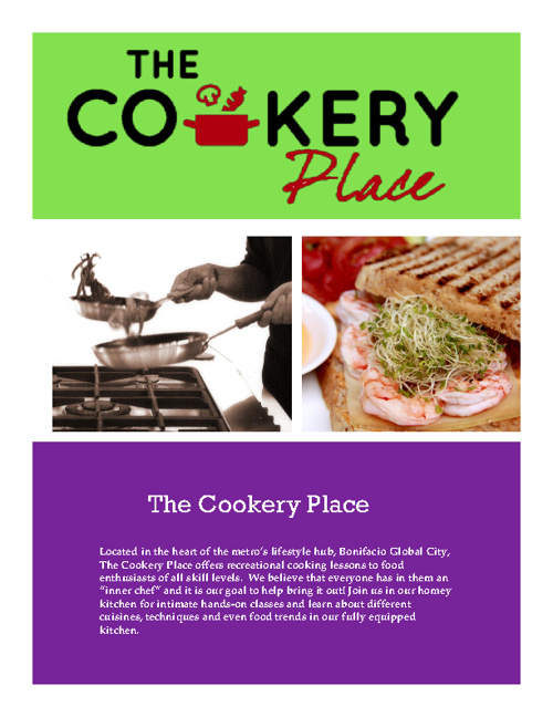 The Cookery Place E-Brochure