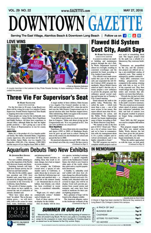 Downtown Gazette     May 27, 2016