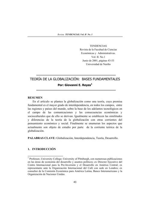 globalización y teorias del desarrollo
