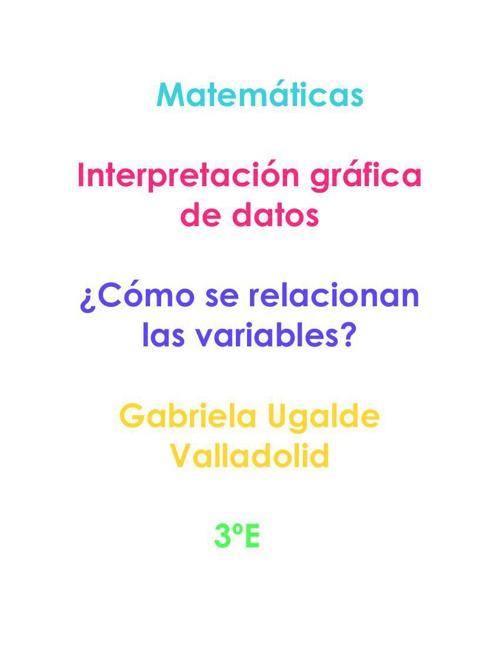Interpretación gráfica de datos