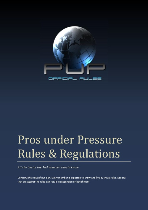 Rules Pros under Pressure