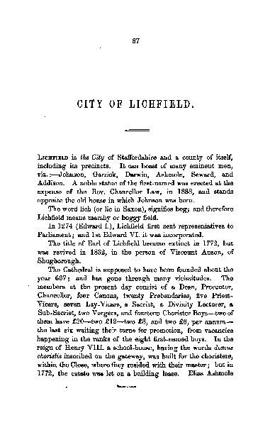 Lichfield Grammar school - 1859