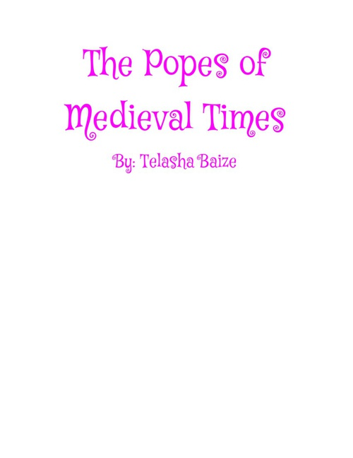 The Popes of Medieval Times