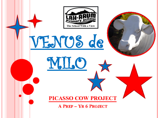 Laharum PS Learning Journal - Picasso Cow Project 2011