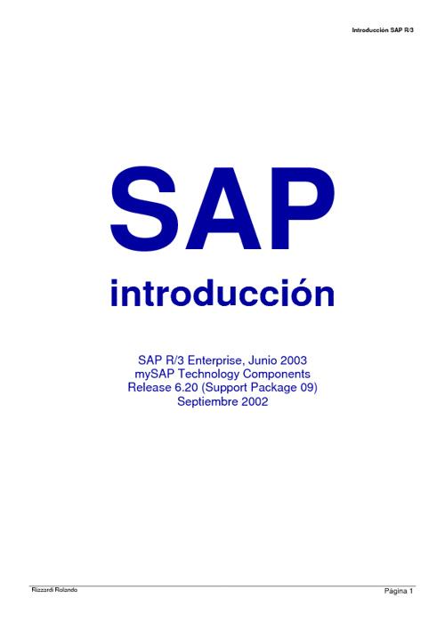 Manula Basico de SAP
