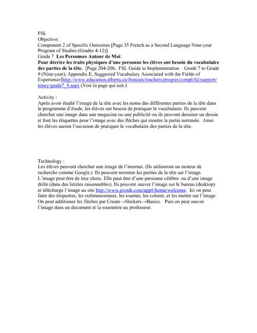 TPACK (FSL 5%) assignment