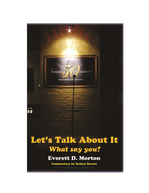"FREE Preview Book ""Let's Talk About It- What Say You?"""