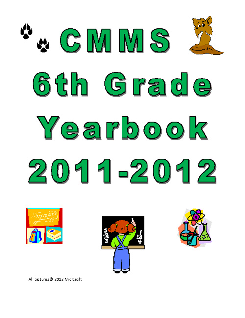 CMMS 6th Grade Yearbook