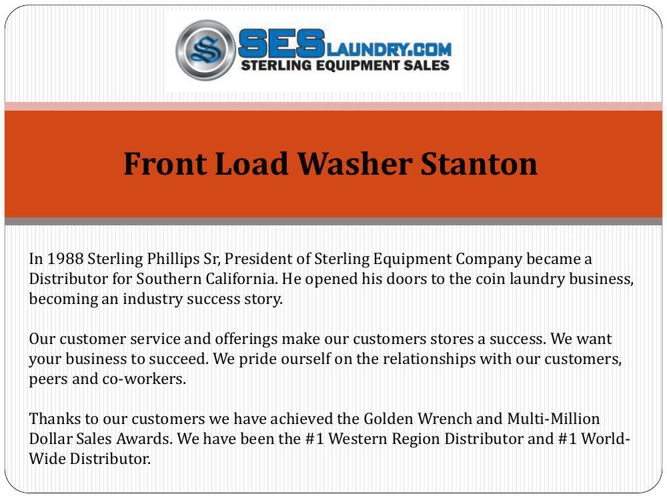 Front Load Washer Stanton