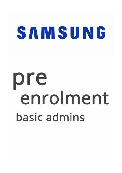 Pre-Enrolment - Basic Admin