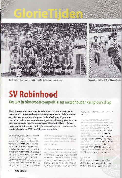 Gschiedenis SV Robinhood