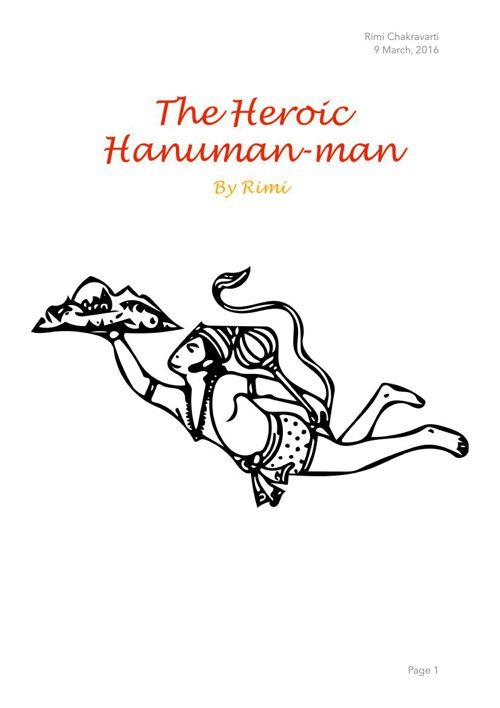 The Heroic Hanuman-man by Rimi