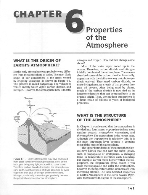 CH 6 Properties of the Atmos.