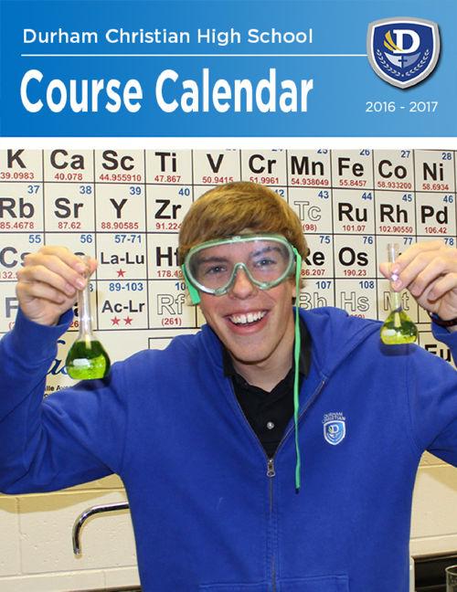 School Course Calendar 2016-2017