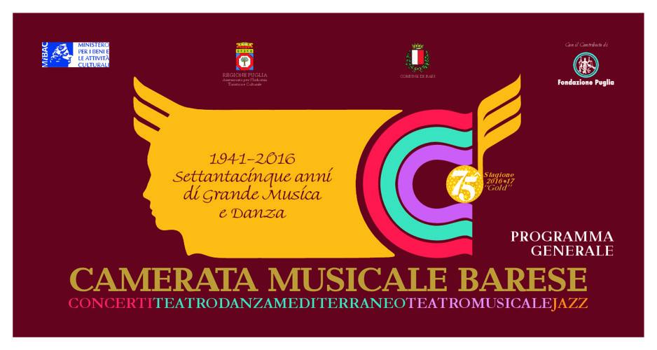 Camerata Musicale Barese: Programma generale