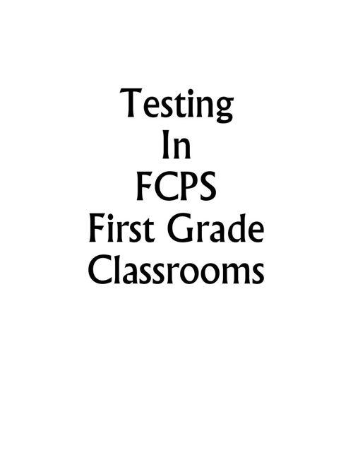Testing Grade 1