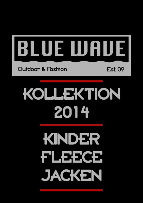 KINDER FLEECEJACKEN BLUE WAVE KATALOG 2014