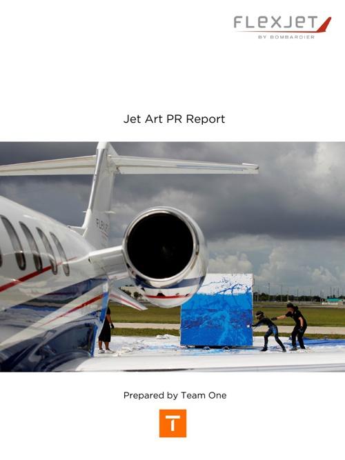Flexjet Jet Art PR Report