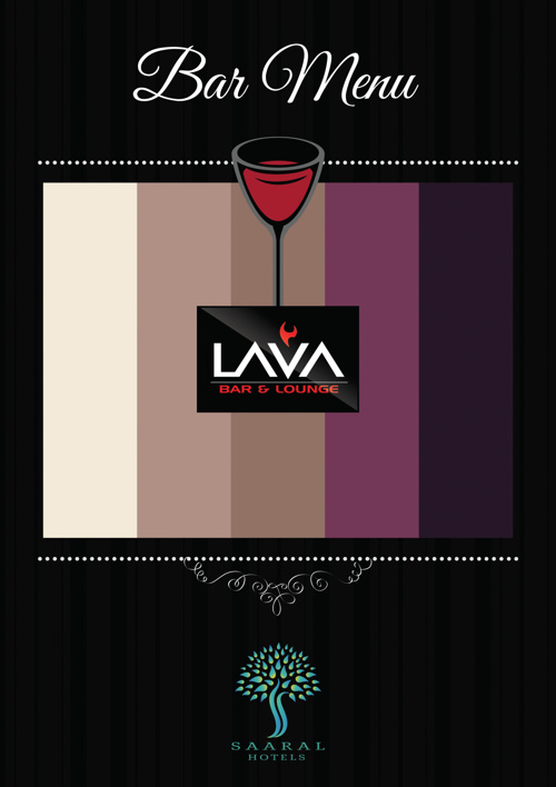 Lava - Bar menu