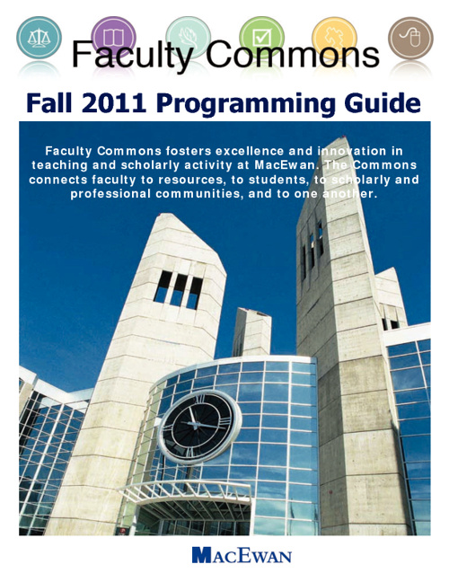 Faculty Commons Fall 2011 Programming Guide