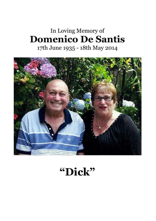 4 Order of Service for Domenico De Santos