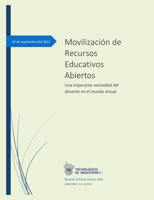 MOVILIZACIÓN DE RECURSOS EDUCATIVOS ABIERTOS
