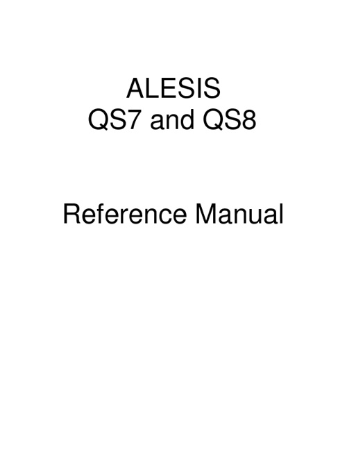 Alesis QS8 User Manual