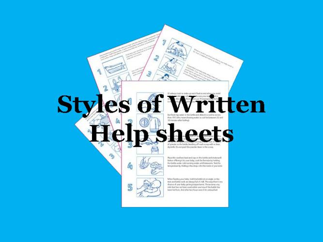 Helpsheet styles