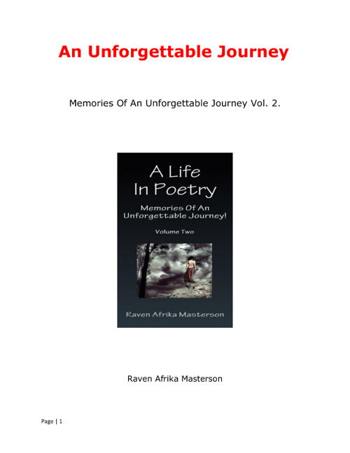 Memories Of An Unforgettable Journey