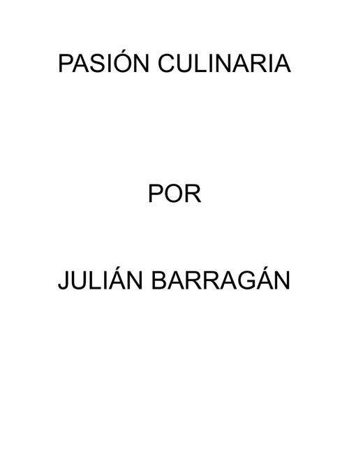 PASIÓN CULINARIA