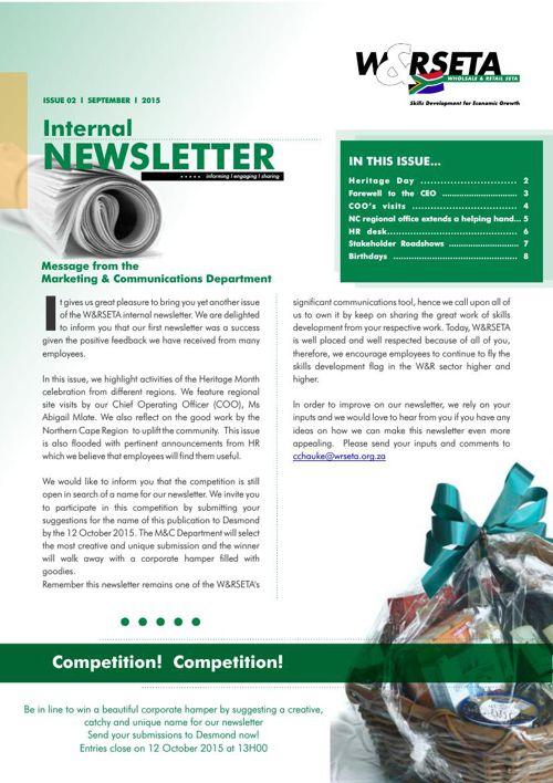 Sep Internal Newsletter Design