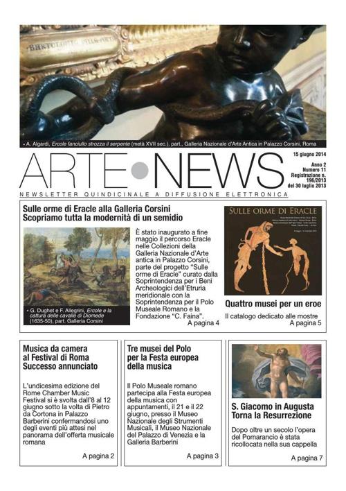 """""""Arte News"""" - 15 giugno 2014"""
