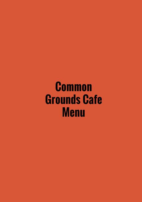 Common Ground Cafe Menu