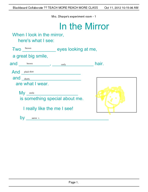 Initial In the Mirror Poem