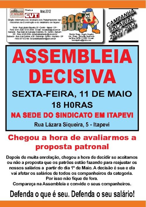 Boletim Campanha Maio 2012 (Capa)