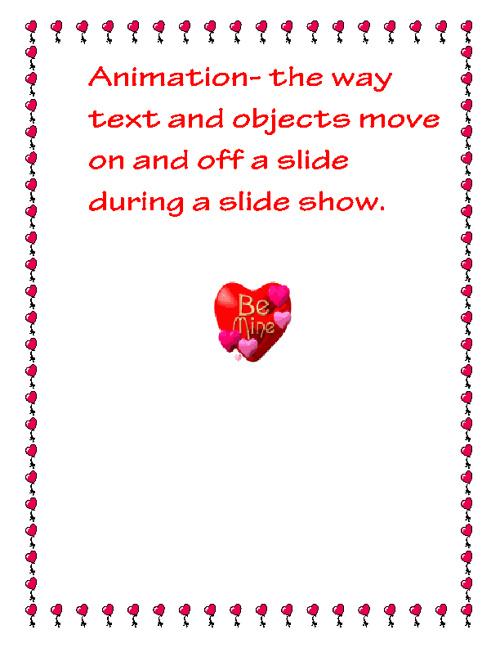 Presentation Terms (: